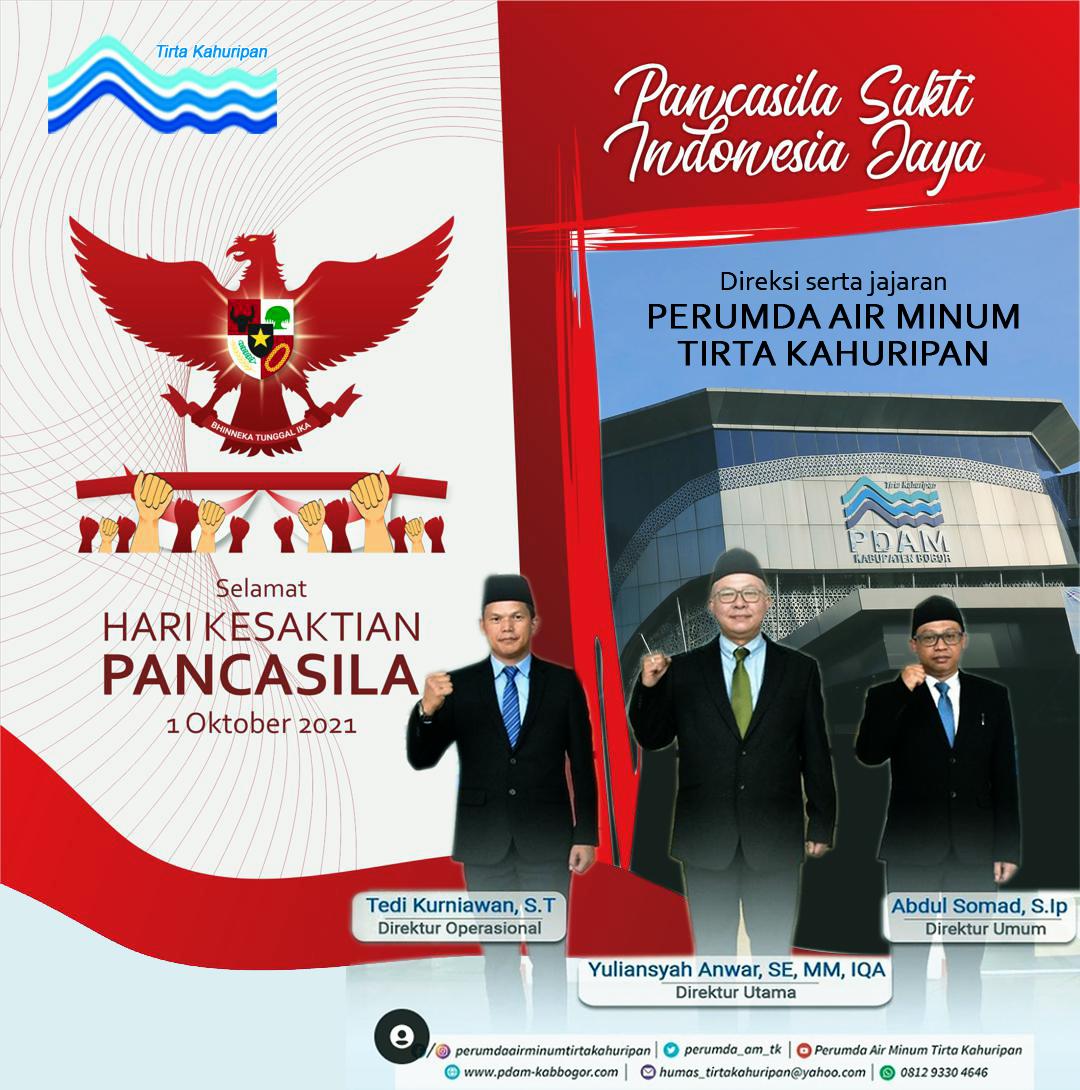 Iklan PDAM Tirta Pakuan dipke dulu buat kesaktian pancasila pdam kabupaten